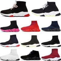 NEW 2020 패션 디자이너 양말 신발 속도 트레이너 캐주얼 양말 부팅 배 블랙 화이트 레드 플랫 러너 여성 남성 스니커즈 36-45