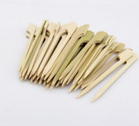 3000 Pieces 10. 5cm Natural Bamboo Picks Skewers for BBQ Appe...