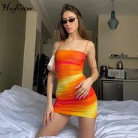 2020 sleeveless tie dye backless hollow out sexy mini dress ...
