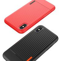 Cassa del telefono del silicone di TPU della valigia di modo per la galassia S8 S9 S9 S9 di caso della valigia di TPU di caso più TPU + copertura posteriore del PC per Iphone x