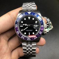Новые мужские бизнес наручные часы Серебряный корпус из нержавеющей стали Часы Black Face Watch Автоматические механические спортивные часы
