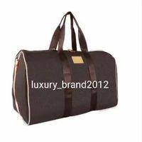 2019 hombres bolsa de lona mujeres bolsas de viaje Mano equipaje de lujo diseñador de lujo bolso de viaje hombres PU bolsos de cuero de cuero grandes Bolsa de cuerpo Totes 55 cm
