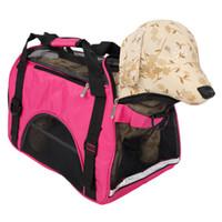 Hohle-heraus Tragbare atmungsaktive wasserdichte Haustier-Handtasche Rose Red M