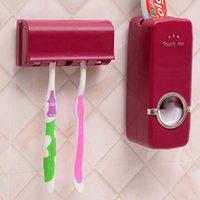 المس لي التلقائي أدوات البثق معجون الأسنان الضغط جهاز موزع + حامل فرشاة مجموعة فرشاة الأسنان الرف والجودة