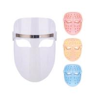 Домашнее использование 3 цвета светодиодная маска для лица PDT из светодиодов светотерапия маска для лица подтяжки кожи омоложения красоты машина одобрение CE DHL Free Ship