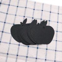 Apfel-förmige leere Anzeigekarte Tags Halskette Verpackung Schmuck Zubehör Tag (weiß, schwarz, braun)