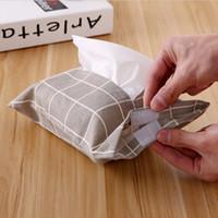dessins animés mouchoirs en papier créatifs mignons tissus en lin tissus boîte à mouchoirs sacs à papier porte-serviettes boîte de rangement boîte à dessin pochette
