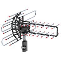 Haute définition extérieure Antenne TV 360 ° Rotating UV des deux segments 174-860MHz Amplification signal TV Antenne avec accessoires Sac