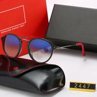 Moda Brand Design óculos polarizados condução armação dos óculos metal do ouro Óculos Homens Mulheres Espelho Óculos de sol Polaroid lente de vidro