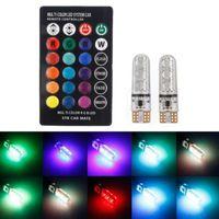 2pcs // paire T10 5050 voiture Télécommande Ampoule LED 6 Smd Multicolor W5W 501 Side Ampoules Livraison gratuite par DHL