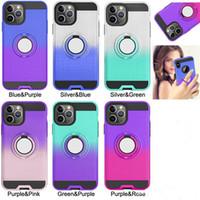 2 in 1 Hybrid Ring Stand Telefon Tasche im Auto Adsorption Magnetic-Haut-Kasten für iphone 11 pro max XR XS MAX 6 7 8 PLUS Samsung S10 PLUS note10