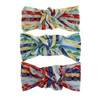 Ragazze fascia Designer Twist elastica delle donne Croce Bohemian Sport dell'involucro della testa Turban12 Colori HairBand capelli fioriscono gli accessori per le donne