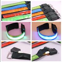 Sicurezza LED riflettente bracciale biciclette lampeggiante Braccio Sport Banda Attenzione notte del LED Flash Strap Glow Belt Halloween Party Supplies VT0862