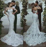 African Lace Wedding Dresses With Detachable Sleeves Back Zi...