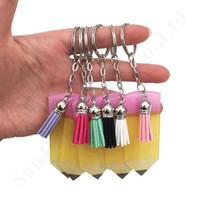Ювелирные изделия Брелок для преподавателей день подарок карандаш с кисточкой ключей 6 цветов Детская пряжка