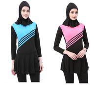 Nuovo costume da bagno musulmano 2019 Costume da bagno da spiaggia da donna, costume da bagno da donna Costume da bagno flessibile tuta da nuoto flessibile Elegante abbigliamento da spiaggia per le donne