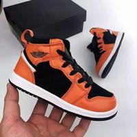 Designer baby 1 kinder basketballschuhe jugend kinder athletic 1s sportschuhe für junge mädchen schuhe kostenloser versand chaussures pour enfan