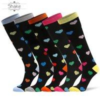 OEM chaussettes de compression pour MenWomen 20-30 mmHg Bas pour compression graduée sport diabétique avec des motifs cardiaques