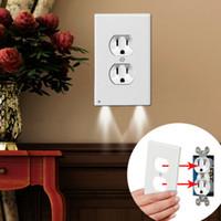 Plug Cover Led Notturno Luce notturna PIR Body Motion Sensor attivato Light Light Angel Outlet Face Corridoio Bedroom Bedroom Beach Sicurezza della sicurezza