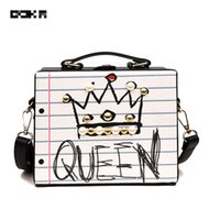 QOKR handbags women bags designer fashion letter diamonds pe...