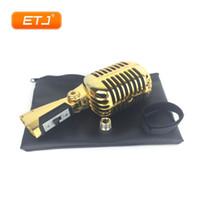 أعلى جودة 55shii سلسلة محترمة المعادن الكلاسيكية 55sh ديلوكس ديناميكي ميكروفون الرجعية خمر ميكروفون دي جي خلاط الصوت كاريوكي KTV استوديو تسجيل
