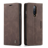 Caseme Retro Wallet en cuir pour OnePlus 8 Pro 7 Pro One Plus Nord ID flip support magnétique TPU Card Phone Book Cover Luxe