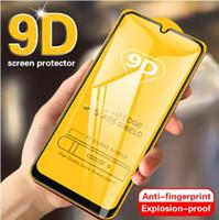 For Samsung Galaxy üzerinde 9D Kavisli temperli cam Samsung M10 M20 M30 A70, A40, A20 Koruyucu Cam A90 A80 A60, A50, A30, A10 Ekran Koruyucu