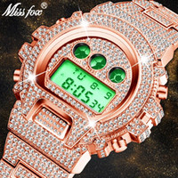 MISSFOX G Estilo Men Watch 30M impermeável LED relógio de pulso Rose Gold relógio relógio masculino Xfcs Relógios Masculino
