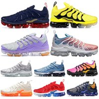 Nike Air Vapormax TN Plus 2019 TN Plus Zapatillas de running Bumblebee Olympic Work Blue Creamsicle Uva Sunset Game Royal Hombres Mujeres Deportes Zapatillas 36-45