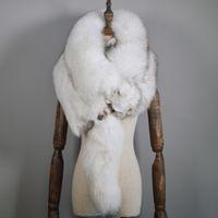ラグジュアリーリアルキツネの毛皮のスカーフ女性冬の本物のナチュラル全体のキツネの毛皮の襟暖かいソフトファッション本物のキツネの毛皮のスカーフ