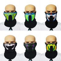 Máscaras de fiesta Control de voz Luminescencia Carátula Festival de música Fiestas de baile Varios festivales Máscara especial Venta caliente 25ha L1