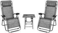 Conjunto de 2 ajustável Zero Gravity reclinável acolchoado Patio Lounge Chair Heavy Duty reclinável Perfeito para Quintal Outdoor Patio Beach Pool