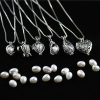 Perlenkette heißen Verkauf-natürliche Frischwasser Oyster Perlenkette DIY Cage-Anhänger-Zusätze für Frauen Art und Weise Jewerly Großhandel 0031WH