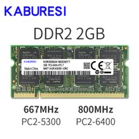 Pas cher KABURESI 4 RAMs (2x2GB) DDR2 2 Go 800MHZ 667MHZ RAM 200 broches mémoire d'ordinateur portable 2x Dual-channel PC2-6400 PC2-5300 Notebook RAM SODIMM 1.8v