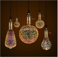 Lámpara LED 3D Edison Bombilla de la luz de la vendimia E27 110V 220V LED Lámpara de filamento Lámpara de alambre de cobre Reemplazar la bombilla incandescente
