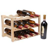 خشبي 12 زجاجة النبيذ الاحمر حامل حامل الإبداعية طوي الجرف النبيذ الخشب جبل بار عرض الجرف للطي الخشب حامل زجاجة