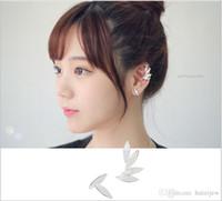 귀여운 귀걸이 여자 소녀 보석 브랜드 디자인 귀 커프 문 패션 보석 새로운 한국어 귀걸이 스터드 팩 크리스탈 드롭 귀걸이