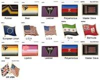 10PCS 프라이드 배지 양성 Pansexual 브로치 레즈비언 프라이드 핀 깃발 LGBTQ 게이 플래그 옷깃 핀