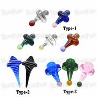 Verschiedene bunte Mini-Glas-Bubble Carb Cap-Kugelglas-Carb-Kappen für abgeschrägte Randquarz-Banger-Nägel Glas Wasserbongs-Pfeife DAB-Rigs