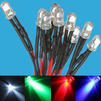 15 ADET Beyaz Mavi Kırmızı Yeşil Sarı 12 V Preze LED Ampul Işık 5mm Önce Kablolu LED Lamba Diyot DC12V F5 Yayan Diyotlar