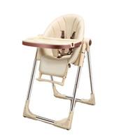 Protección segura y de calidad Alimentación Mesa plegable Silla de Comer Kid Trona multifuncional ajustable de plástico del asiento de bebé