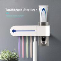 Titolare Antibacteria Ultraviolet Spazzolino sterilizzatore Dispenser automatico di dentifricio Squeezer Bagno Accessori Set 2 Stili Bagno Sto