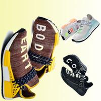 2019 NMD 휴먼 Race Mens Running Shoes Pharrell Williams Sample Core Black Sport Designer Shoes Women 운동화 캐주얼 mens 트레이너