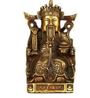 Artesanía Cobre Bronce Latón Feng Shui Decoración del hogar Dios de la riqueza Estatua de Buda para atraer dinero y exhibir decoraciones de Fengshui