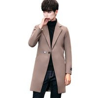 Men' s woolen overcoat Fall Winter 2019 Fashion V- collar...
