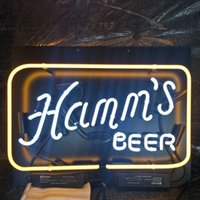 Hamm's BEAER Neon Sign Bar Display Display Advertising Decoration Personalizzato Wall Mount Light Frame in metallo leggero 20 '' 24 '' 30 ''