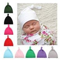 جديد أوروبا الحلو الرضع الطفل الفتيات قبعة بلون أغطية الرأس الطفل طفل أطفال بيني كعبي القبعات الأطفال طقم عقدة الجمجمة كاب 10 ألوان
