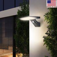 정원 산업 차고 재고 US + 태양 주도 야외 조명 IP65 방수 벽 빛 PIR 모션 센서 야외 비상 조명
