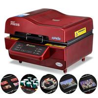 شحن مجاني ST-3042 3D فراغ التسامي آلة نقل الحرارة لحالة الهاتف / القدح