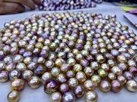 metálicos pérolas irregulares soltas 10-12mm forma barroca nucleadas roxo ostra pérola para fazer jóias